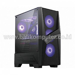 Casing MSI MAG FORGE 101M 3 Fan A-RGB + 1 Fan Hitam